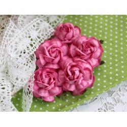 Чайная роза, цвет темно-розовый, 4см, 1шт