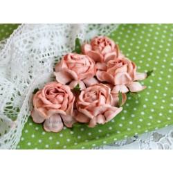 Чайная роза, цвет розовый коралл, 4см, 1шт