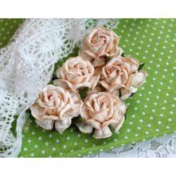 Чайная роза, цвет коралловый, 4см, 1шт