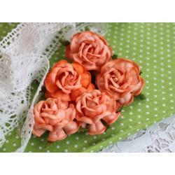 Чайная роза, цвет светло-оранжевый, 4см, 1шт