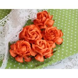 Чайная роза, цвет темно-оранжевый, 4см, 1шт