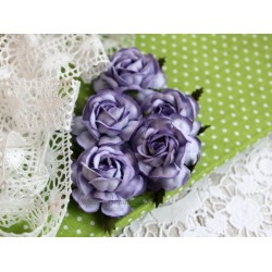 Чайная роза, цвет сиреневый, 4см, 1шт