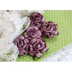 Чайная роза, цвет фиолетовый, 4см, 1шт