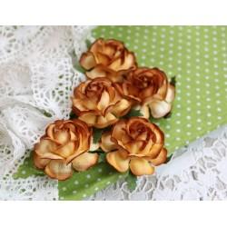 Чайная роза, цвет какао-шоколад, 4см, 1шт