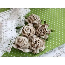 Чайная роза, цвет серый, 4см, 1шт
