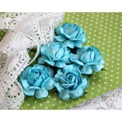 Чайная роза, цвет бирюзовый, 4см, 1шт
