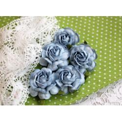Чайная роза, цвет голубой, 4см, 1шт