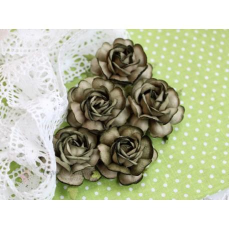 Чайная роза, цвет болотный, 4см, 1шт
