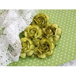Чайная роза, цвет зеленый, 4см, 1шт