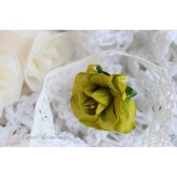 Кудрявые розы, салатовые, 3.75см, 1шт.