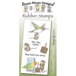 Штамп резиновый House-Mouse Designs, Feathered Friends - Flying High, 10.5*20.5см
