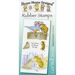 Штамп резиновый House-Mouse Designs, Get Well Soon - Sweet Kisses, 10.5*20.5см