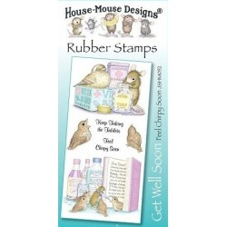 Штамп резиновый House-Mouse Designs, Get Well Soon - Feel Chirpy Soon, 10.5*20.5см
