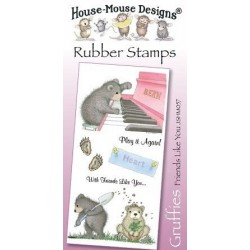 Штамп резиновый House-Mouse Designs, Gruffies - Friends Like You, 10.5*20.5см