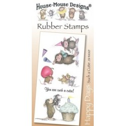 Штамп резиновый House-Mouse Designs, Happy Days - Such a Cutie, 10.5*20.5см