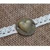 Металлическая подвеска Сердце, 24мм, 1шт.