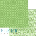 """Лист бумаги для скрапбукинга """"Светлая Зелень"""" , коллекция """"Шебби Шик Базовая"""", 30 на 30 плотность 190 гр"""
