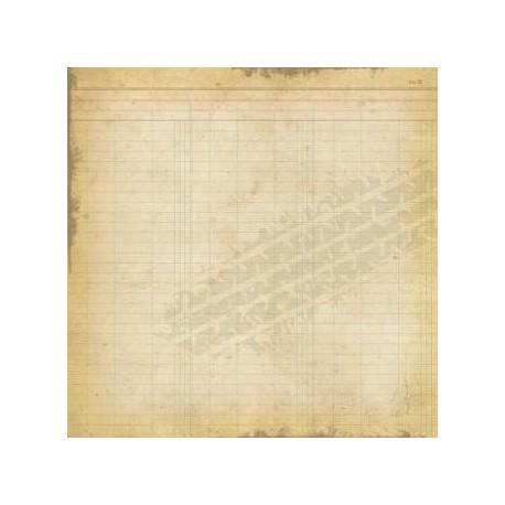 Бумага для скрапбукинга 30*30 см AWESOME BLUE MINI DOT/LEDGER