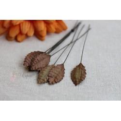 Листочки маленькие, цвет коричневый, 2см, 10шт.