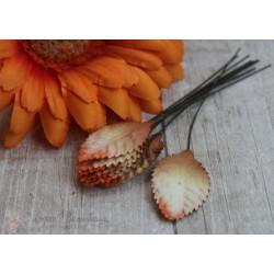 Листочки, цвет оранжево- коричневый, 3.5см, 10шт.