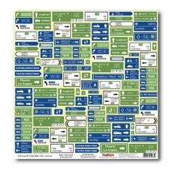 Бумага для скрапбукинга 30,5х30,5 см 180 гр/м Вокруг Света Новые маршруты