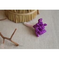 Тычинки махровые, фиолетовые, 30шт.