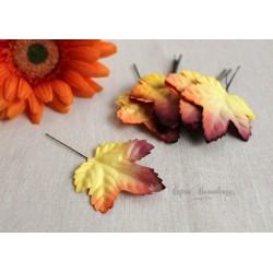 Листочки клена, цвет осени, 4,5см, 10шт.