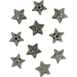 Набор пуговиц ASSORTED ITEMS-STAR COMBO SILVER 35