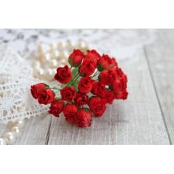 Роза кудрявая в бутонах, 8-10мм, цвет красный, 1шт.