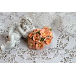 Лютик, светло-оранжевый, 1.5см, 10 цветочков