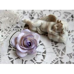 Роза Шпалера, цвет белый с сиреневой окантовкой, 1цветок