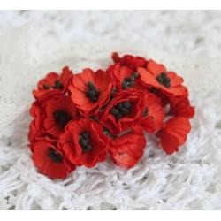 Маки, цвет красный, 2 см, 1цветочек