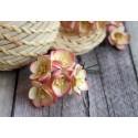 Цветы вишни, с розовой окантовкой, 2.5см, 1цветок