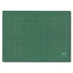 Мат для резки 60х45 см, формат А2, цвет серо-зеленый