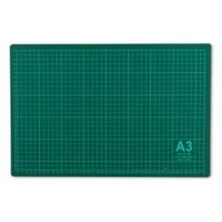 Мат для резки 45х30 см, формат А3, цвет серо-зеленый