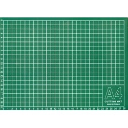 Мат для резки 30х22 см, формат А4, цвет серо-зеленый