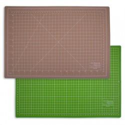 Мат для резки двусторонний 45х30 см, формат А3, цвет бежевый/салатовый