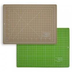 Мат для резки двусторонний 30х22 см, формат А4, цвет бежевый/салатовый