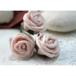 Цветок Нежный зефир, 2.8см, 1шт., цвет светло-розовый