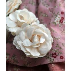 Цветок Персиковое суфле, 4.6см, 1шт., цвет кремовый