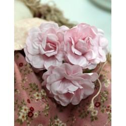 Цветок Розовый рассвет, 4.6см, 1шт., цвет розовый