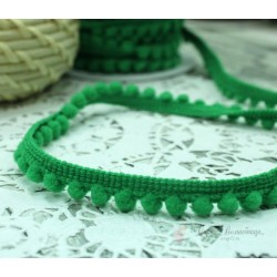 "Тесьма декоративная ""BLITZ"", цвет зеленый, 10 мм  9.1 м  ±0.5 м"