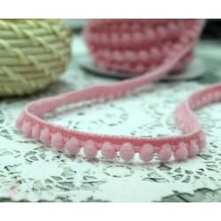 """Тесьма декоративная """"BLITZ"""", цвет светло-розовый, 10 мм, 1м"""