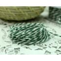 "Шнур ""Gamma""   2 мм бечевка, цвет зеленый/белый, 1м"