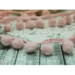 """Тесьма декоративная """"BLITZ"""", цвет светло-розовый, 21 мм, 1м"""