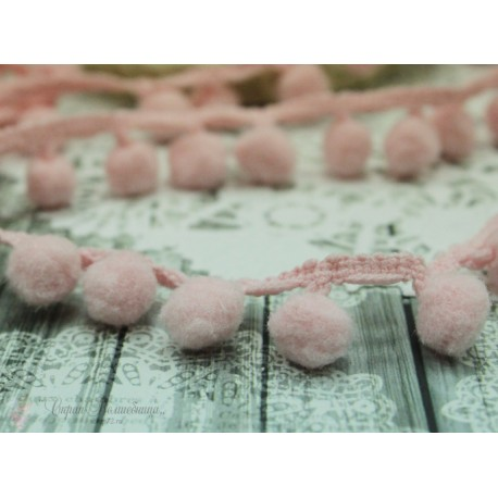 "Тесьма декоративная ""BLITZ"", цвет светло-розовый, 21 мм  9.1 м  ±0.5 м"
