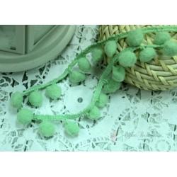 "Тесьма декоративная ""BLITZ"", цвет светло-зеленый, 21 мм  9.1 м  ±0.5 м"