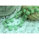 """Тесьма декоративная """"BLITZ"""", цвет светло-зеленый, 21 мм, 1м"""
