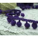 """Тесьма декоративная """"BLITZ"""", цвет фиолетовый, 21 мм, 1м"""