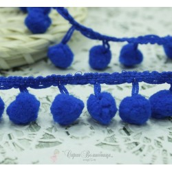 """Тесьма декоративная """"BLITZ"""", цвет синий, 21 мм  9.1 м  ±0.5 м"""